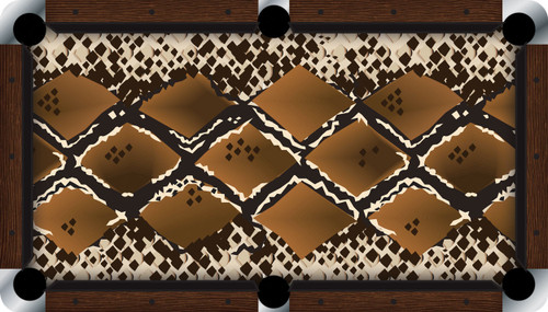 Vivid Snake 7'/8' Pool Table Felt