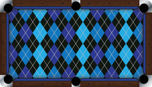 Vivid Argyle 9' Pool Table Felt
