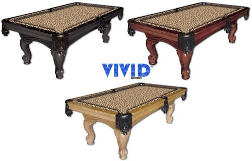 Vivid Leopard 9' Pool Table Felt