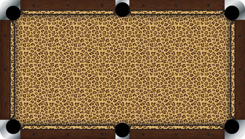 Vivid Leopard 9' Pool Table Felt