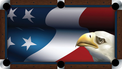 Vivid Patriot Eagle 9' Pool Table Felt