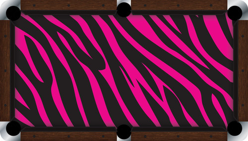 Vivid Pink Zebra 9' Pool Table Felt