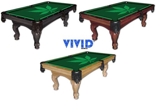 Vivid Pot Leaf 9' Pool Table Felt