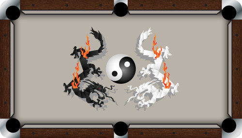 VIVID Ying Yang Dragons 7'/8' Pool Table Felt
