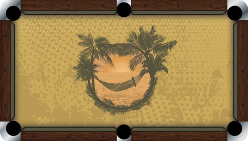 VIVID Relaxing at the Beach 7'/8' Pool Table Felt
