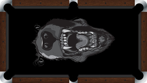 VIVID Black Bear 7'/8' Pool Table Felt