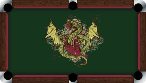VIVID Winged Serpent 7'/8' Pool Table Felt