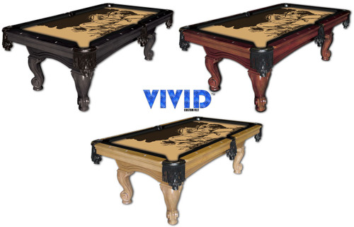 VIVID Wild Horses 7'/8' Pool Table Felt