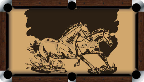 VIVID Wild Horses 7'/8' Pool Table Felt