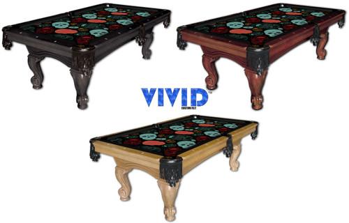 VIVID Day of the Dead 9' Pool Table Felt