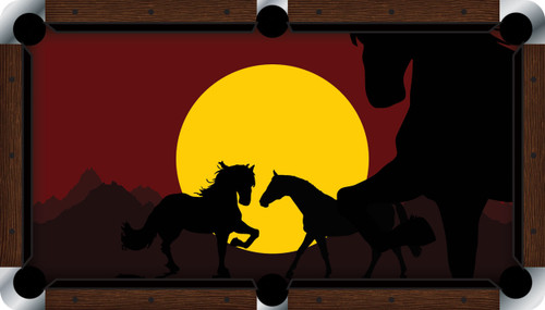 VIVID Horses at Sunset 9' Pool Table Felt