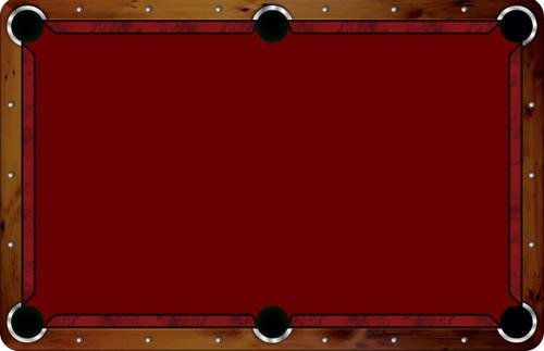 Vivid Printed Pool Table Felt Rails - Burgundy Marble