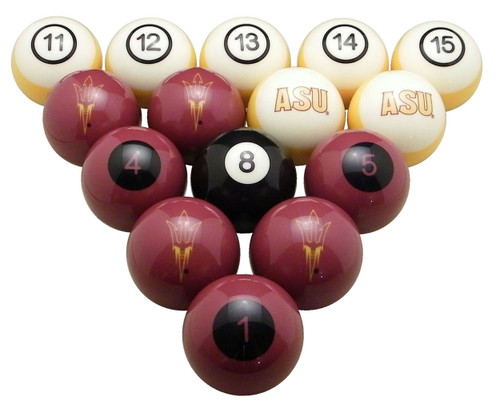 Arizona State Sun Devils Numbered Billiard Ball Set