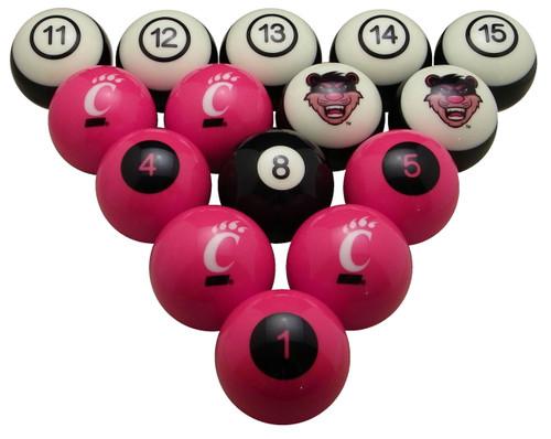 Cincinnati Bearcats Numbered Billiard Ball Set