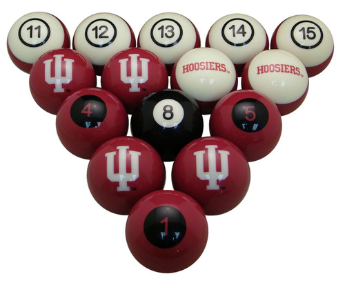 Indiana Hoosiers Numbered Billiard Ball Set