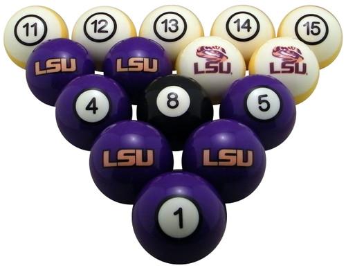 LSU Tigers Numbered Billiard Ball Set