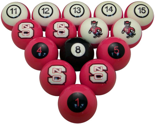 NC State Wolfpack Numbered Billiard Ball Set