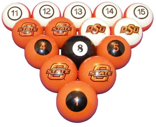 Oklahoma State Cowboys Numbered Billiard Ball Set