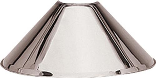 H.J. Scott Lamp Shade - Brushed Chrome