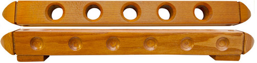 Roman Style 5 Cue Wall Rack with Holes