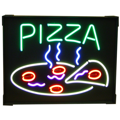 """Steaming Pizza"" Neon Sign"