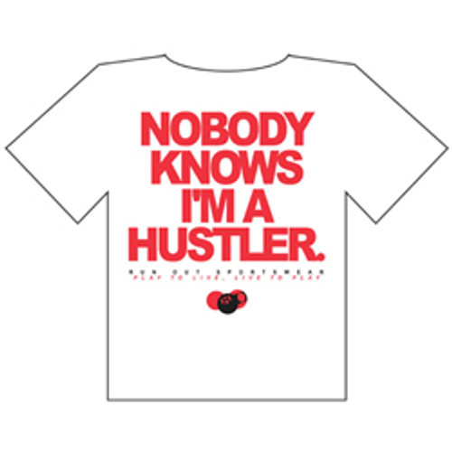 """Not A Hustler"" Plain T-Shirt, White"