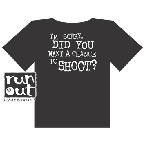 """Chance To Shoot"" T-Shirt, Black"
