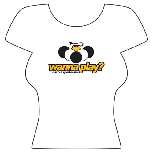 """Wanna Play?"" T-Shirt, White"
