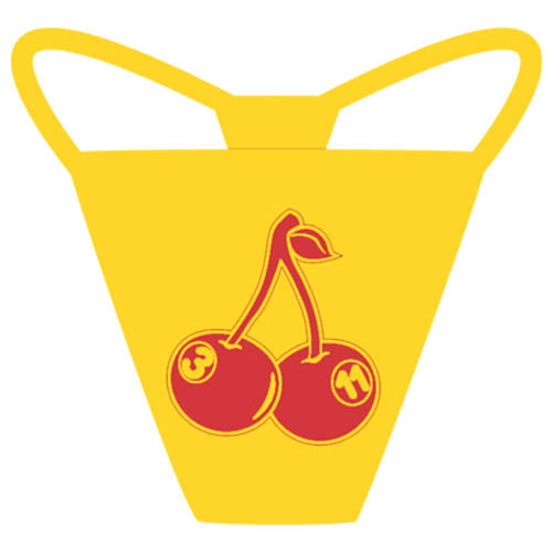 """Cherries"" Thong, Yellow"