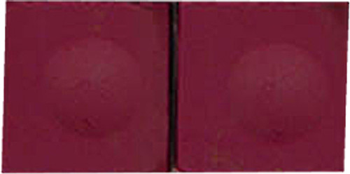 Silver Cup Pool Cue Chalk, Burgundy 2-Piece Pack