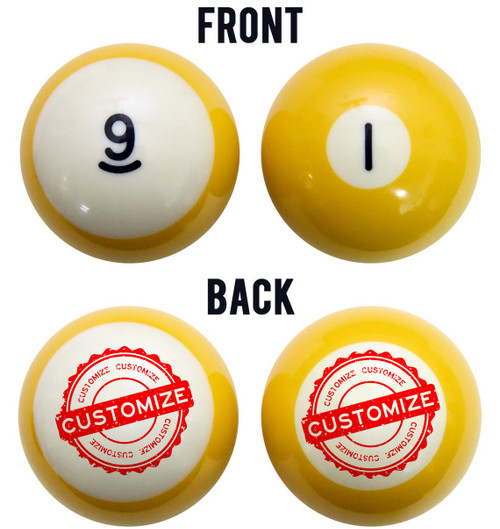 Custom Personalized Billiard Ball Set