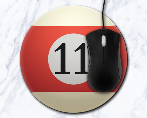 Eleven Ball 8 inch Round Mousepad
