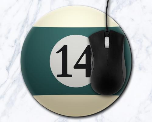 Fourteen Ball 8 inch Round Mousepad