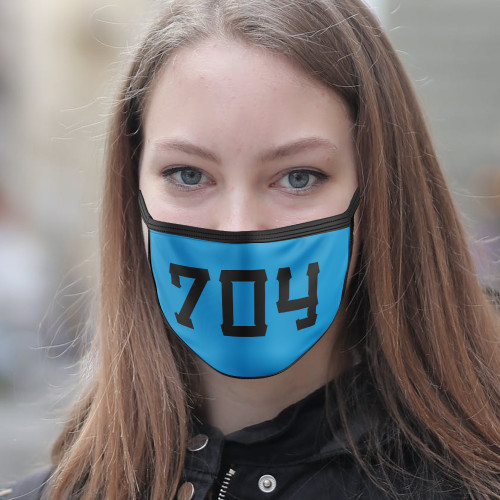 704 Electric Blue & Black Face Mask