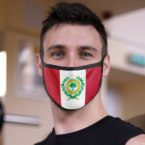 Raleigh City Flag Face Mask