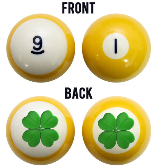 Four Leaf Clover Billiard Ball Set