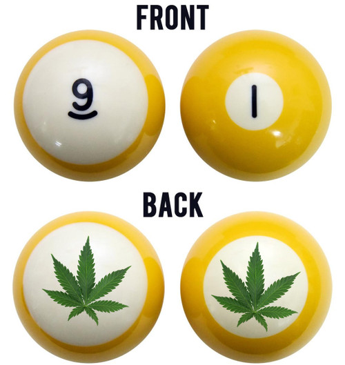 Pot Leaf Billiard Ball Set