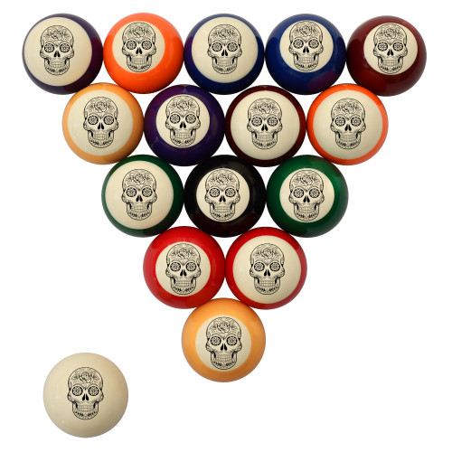 Day of the Dead Billiard Ball Set