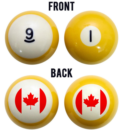 Flag of Canada Billiard Ball Set