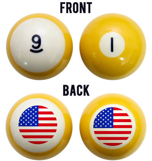 Stars & Stripes American Flag Billiard Ball Set