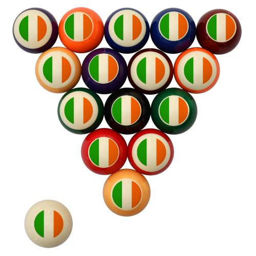 Flag of Ireland Billiard Ball Set