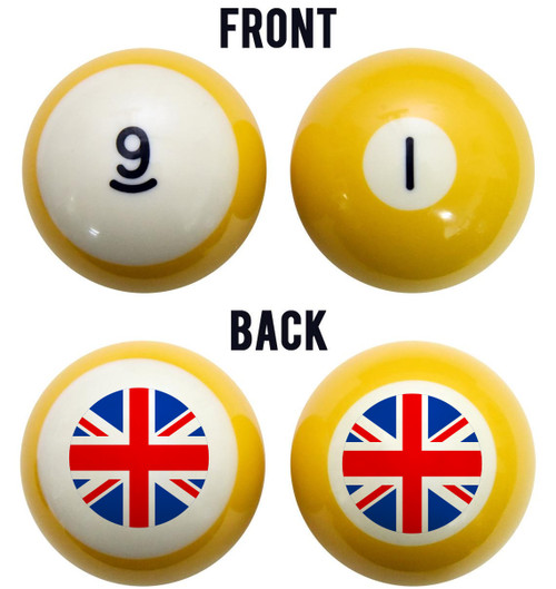 Union Jack Flag Billiard Ball Set