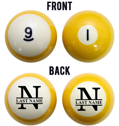 Family Name Billiard Ball Set