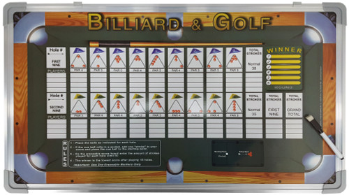 Billiard & Golf Wall-Mounted Scoreboard Game