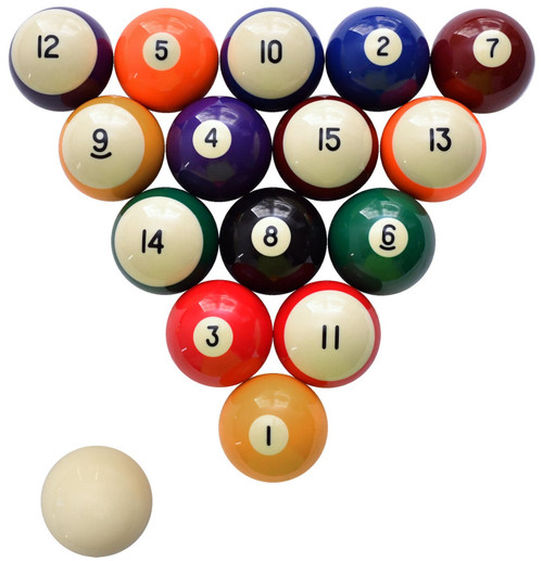 Numbered side of ball set