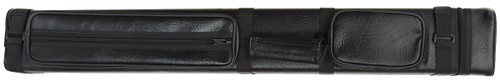 Black Hard Pool Cue Case for 3 Butts, 6 Shafts
