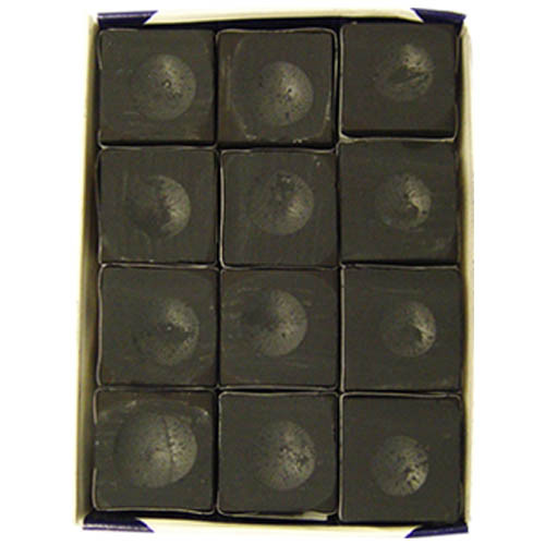 Silver Cup Chalk, Black, 12-Piece Box