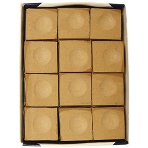 Silver Cup Chalk, Tan, 12-Piece Box