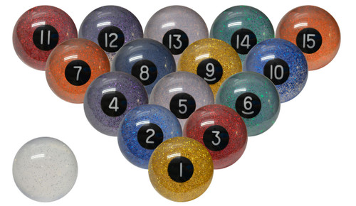 Sterling Confetti Pool and Billiard Ball Set