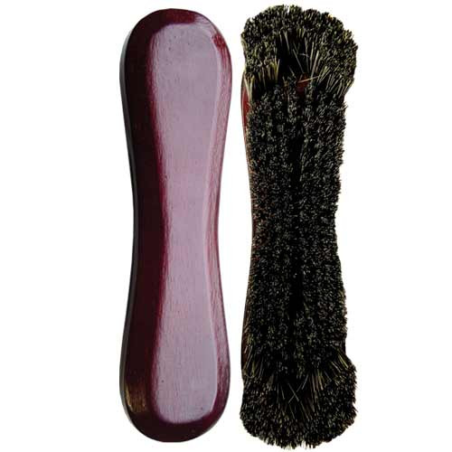 Standard 10-1/2 Horsehair Pool Table Brush, Mahogany